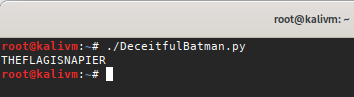 Solution to deceitfulbatman challenge hackthebox