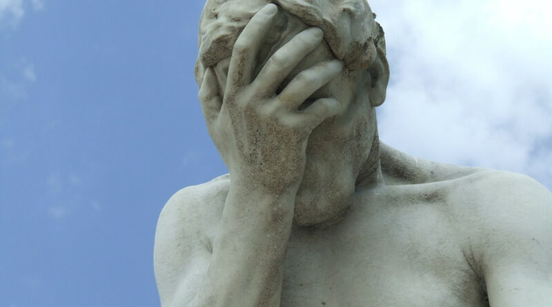 facepalm (blunder) photo from pexels.com
